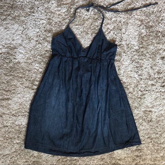 Lucky Brand Dresses & Skirts - Denim Halter Dress